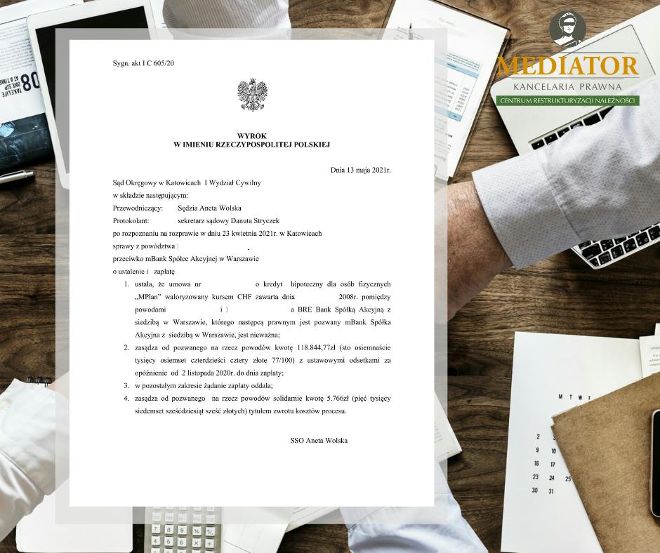 Umowa o kredyt hipoteczny z mBankiem nieważna!